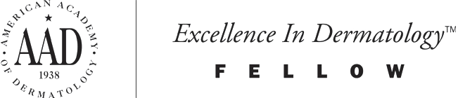 American Academy of Dermatology Excellence in Dermatology Fellow logo